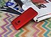 LG G6 Mat Kırmızı Silikon Kılıf - Resim 1