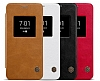 Nillkin LG G6 Uyku Modlu Pencereli Kapaklı Siyah Deri Kılıf - Resim 10