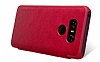 Nillkin LG G6 Uyku Modlu Pencereli Kapaklı Siyah Deri Kılıf - Resim 7
