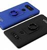 IMAK LG G6 Selfie Yüzüklü Siyah Rubber Kılıf - Resim 1