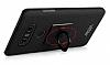 IMAK LG G6 Selfie Yüzüklü Siyah Rubber Kılıf - Resim 9