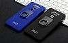 IMAK LG G6 Selfie Yüzüklü Siyah Rubber Kılıf - Resim 2