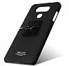 IMAK LG G6 Selfie Yüzüklü Siyah Rubber Kılıf - Resim 7