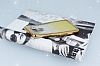 LG G6 Simli Parlak Gold Silikon Kılıf - Resim 2