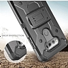 LG G6 Standlı Ultra Koruma Siyah Kılıf - Resim 5