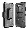 LG G6 Standlı Ultra Koruma Siyah Kılıf - Resim 2