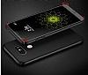 LG G6 Tam Kenar Koruma Silver Rubber Kılıf - Resim 4