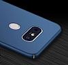 LG G6 Tam Kenar Koruma Silver Rubber Kılıf - Resim 2