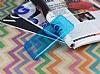 LG G6 Ultra İnce Şeffaf Mavi Silikon Kılıf - Resim 2