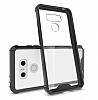 Dafoni Fit Hybrid LG G6 Ultra Koruma Siyah Silikon Kenarlı Şeffaf Kılıf - Resim 3