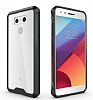 Dafoni Fit Hybrid LG G6 Ultra Koruma Siyah Silikon Kenarlı Şeffaf Kılıf - Resim 4