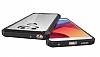 Dafoni Fit Hybrid LG G6 Ultra Koruma Siyah Silikon Kenarlı Şeffaf Kılıf - Resim 2