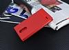 LG K10 2017 Gizli Mıknatıslı Yan Kapaklı Kırmızı Deri Kılıf - Resim 2