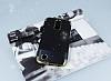LG K10 2017 Simli Deri Siyah Silikon Kılıf - Resim 1