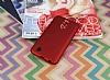 LG K10 2017 Tam Kenar Koruma Kırmızı Rubber Kılıf - Resim 1