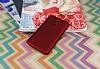 LG K8 2017 Mat Kırmızı Silikon Kılıf - Resim 1