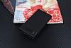 LG Q6 Gizli Mıknatıslı Yan Kapaklı Siyah Deri Kılıf - Resim 1