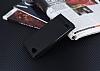 LG Q6 Gizli Mıknatıslı Yan Kapaklı Siyah Deri Kılıf - Resim 2