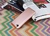 LG Q6 Mat Rose Gold Silikon Kılıf - Resim 2
