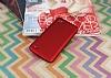 LG Q6 Mat Kırmızı Silikon Kılıf - Resim 1