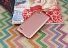 LG Q6 Tam Kenar Koruma Rose Gold Rubber Kılıf - Resim 2