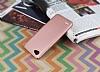 LG Q6 Tam Kenar Koruma Rose Gold Rubber Kılıf - Resim 1