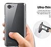 LG Q6 Ultra İnce Şeffaf Silikon Kılıf - Resim 3