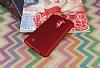 LG Stylus 2 / Stylus 2 Plus Mat Kırmızı Silikon Kılıf - Resim 1