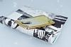 LG Stylus 2 / Stylus 2 Plus Simli Parlak Gold Silikon Kılıf - Resim 2