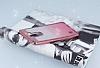 LG Stylus 2 / Stylus 2 Plus Simli Parlak Pembe Silikon Kılıf - Resim 2