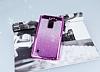 LG Stylus 2 / Stylus 2 Plus Simli Parlak Mor Silikon Kılıf - Resim 1