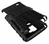 LG Stylus 2 / Stylus 2 Plus Ultra Süper Koruma Standlı Siyah Kılıf - Resim 2