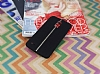 LG Stylus 3 Kadife Dokulu Siyah Silikon Kılıf - Resim 1