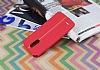 LG Stylus 3 Kadife Dokulu Kırmızı Silikon Kılıf - Resim 2