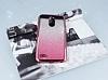 LG Stylus 3 Simli Parlak Pembe Silikon Kılıf - Resim 1