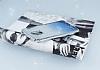 LG Stylus 3 Simli Parlak Mavi Silikon Kılıf - Resim 2