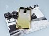 LG Stylus 3 Simli Parlak Gold Silikon Kılıf - Resim 1