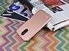 LG Stylus 3 Tam Kenar Koruma Rose Gold Rubber Kılıf - Resim 2