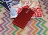 LG Stylus 3 Tam Kenar Koruma Kırmızı Rubber Kılıf - Resim 1