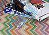 LG Stylus 3 Ultra İnce Şeffaf Mavi Silikon Kılıf - Resim 2
