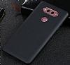 LG V30 Mat Siyah Silikon Kılıf - Resim 1
