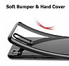 Likgus Huawei P20 Lite Siyah Silikon Kenarlı Şeffaf Rubber Kılıf - Resim 7
