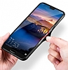 Likgus Huawei P20 Lite Siyah Silikon Kenarlı Şeffaf Rubber Kılıf - Resim 6