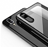 Likgus Huawei P20 Lite Siyah Silikon Kenarlı Şeffaf Rubber Kılıf - Resim 3