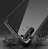 Likgus Huawei P20 Lite Siyah Silikon Kenarlı Şeffaf Rubber Kılıf - Resim 4