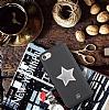 Luna Aristo Astro Serisi İphone iPhone 7 / 8 Gerçek Deri Siyah Kılıf - Resim 1