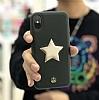 Luna Aristo Astro Serisi iPhone X Gerçek Deri Siyah Kılıf - Resim 4