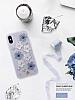 Luna Aristo Jasmine Serisi iPhone X Gerçek Deri Silver Kılıf - Resim 1