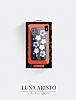 Luna Aristo Jasmine Serisi iPhone X Gerçek Deri Silver Kılıf - Resim 2