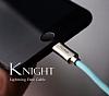 Mcdodo Lightning Işıklı Siyah USB Data Kablosu 1,20m - Resim 1
